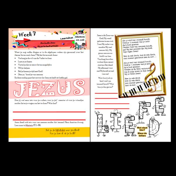 Dagboekje Leven zoals Jezus, stichting Doe maar, middenbouw, week 7