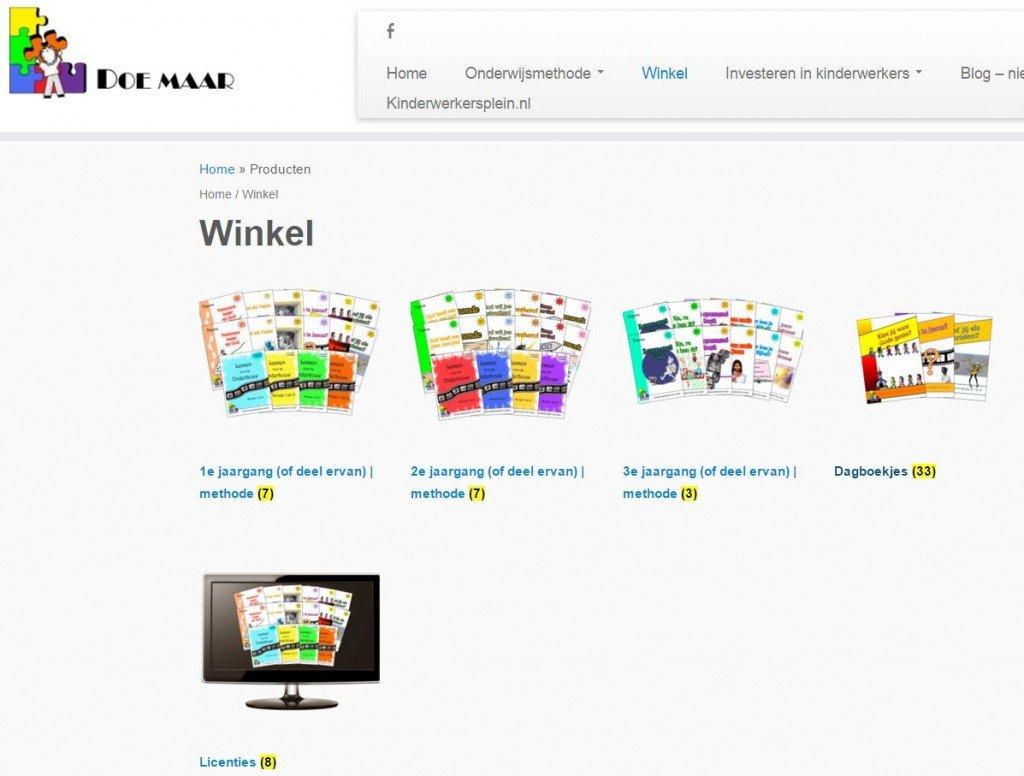 Nieuwe webshop Stichting Doe maar